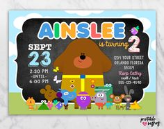 Hey Duggee Invitation for Birthday Party / by PrintableWishes