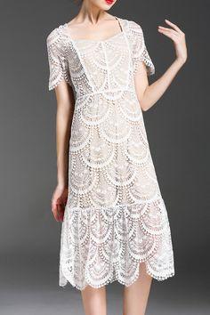 vintage feel lace dress