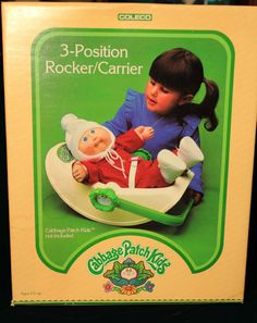 Reserved Cabbage patch kids carrier 1980s good clean shape Baby doll Carseat Rocker  Carrier Coleco Toys New in BOX via Etsy