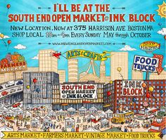 The South End Open Market at Ink Block, New England's largest open-air market, will run on Sundays from May 1, 2016, to October 30, 2016. The market will be held at 375 Harrison Avenue, directly across from the Ink Block, from 10:00 a.m. to 4:00 p.m., weather permitting, during this period. This 27-week arts, crafts, food & farmers market will be sponsored in part by Capital One, The Tufts Health Science Campus (Tufts Medical Center and Tufts University) and Ink Block. The South End Open…