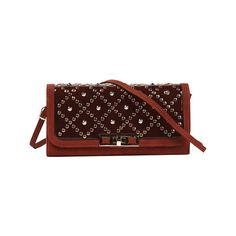 Women's Nicole Lee Irene Studded Quilted Clutch - Brick Casual... ($42) ❤ liked on Polyvore