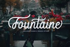 Fountaine Script by Unicode on @creativemarket