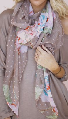 Dots + floral scarf