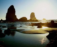 "Canon Beach Sea Stacks from the post, ""The Unfolding That Cannot Be Contained"" 