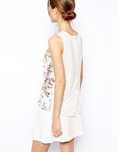 Enlarge Warehouse Floral Woven Front Shell Top