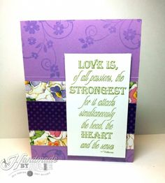 Love is... Card 2, OWH sketch #186 | HandmadebyJulie.com