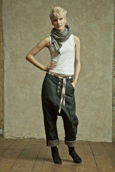 top w303 / trousers w401 / scarf w902