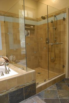 brown ceramic tiled wall panel for shower room with glass door also stone tiled flooring for small bathroom with floor tile also small bathroom vanity ideas
