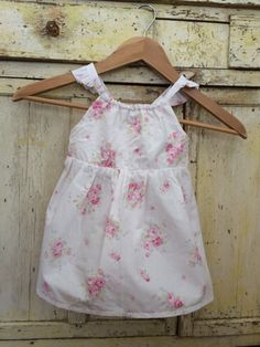 100% cotton Toddler Sundress in a Soft Pastel Floral by LuliJayne