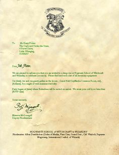 This is a photo of Enterprising Harry Potter Acceptance Letter Printable
