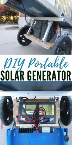 DIY Portable Solar Generator - Solar power for a SHTF situation is going to be essential. Spend a little on materials (no where near as much as the solar companies charge) and you could be saving money and living more self reliant in no time. Solar Energy Panels, Best Solar Panels, Diy Solar, Solar Companies, Solar Roof Tiles, Solar Generator, Solar Projects, Diy Projects, Solar Energy System