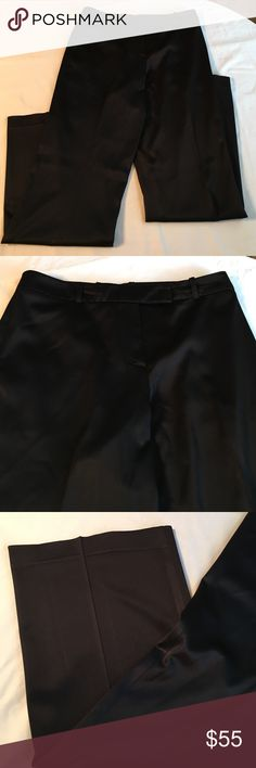 "BCBG black dress slacks These black dress slacks are perfect for work! They are in great condition! No pockets and have a shine to them! INSEAM: 31"" BCBGMaxAzria Pants Boot Cut & Flare"