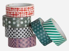 , cm x 5 mtr. per roll pack w. Masking Tape, Washi Tapes, Paper Tape, House Doctor, Blog, Wraps, Gift Wrapping, Ideas, Tableware