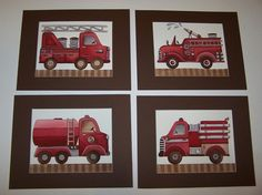 When I grow up I\'m going to drive a firetruck. Decor for kids ...