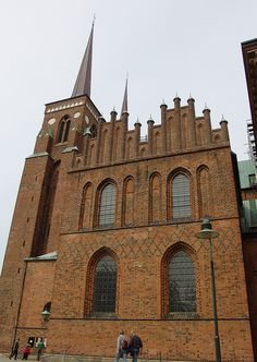 Historic Roskilde Cathedral, the traditional burial site for Denmark's royalty.  West of Copenhagen and easily accessible by public transportation.
