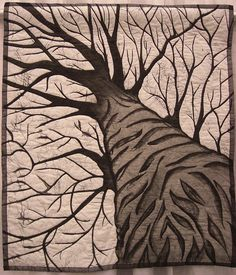 perspective quilts - Google Search - this tree is amplified perspective.
