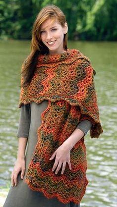 Free+Crochet+Pattern+Lion+Brand | Free Crochet Pattern justWrap Magic Chevrons : Lion Brand Yarn Company