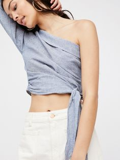 df0e649cd8fcc6 Get Down Top at Free People Clothing Boutique Striped Off Shoulder Top