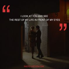 ''I look at you and see the rest of my life in front of me.'' Check out the link in the bio for more love captions #love #lovely  #inlove #me #obsessed #amazing #perfect #everygirlsstory #sparkle #BOYFRIEND #cute #beautiful #girlfriend #girl #couple #dating #marriage #date #instalove #instamood #loveyou #lovehim #loveher #quote #quotes #quotegram #quoteoftheday #caption #captions #photocaption #FF #instafollow #l4l #tagforlikes #followback
