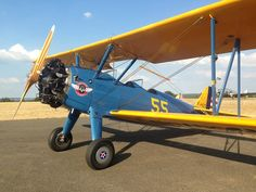 Stearman PT-17 at Le Ferte Alais, France. One of several vintage and ex military aircraft used for flying and engineering courses.