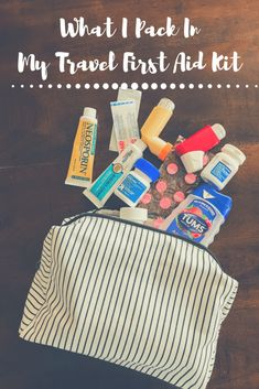 What I Pack in My Travel First Aid Kit - How to be prepared for travel. Sometimes travel goes wrong and you'll want a travel first aid kit! First Aid Kit Travel, Travel Kits, Packing Tips For Travel, Travel Essentials, Travel Hacks, Europe Packing, Vacation Packing, Airplane Essentials, Travel Deals