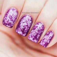 LOVIN this purple galaxy inspired mani!!!! ❤