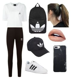 """""""Adidas"""" by ckh538 ❤ liked on Polyvore featuring adidas, adidas Originals and Topshop"""
