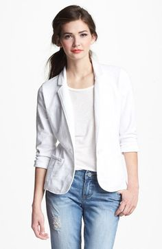 Caslon® Roll Sleeve Knit Blazer available at #Nordstrom