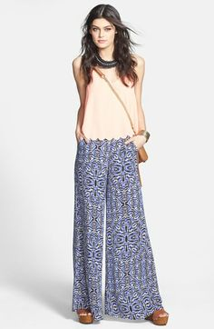 ASTR Tank & Wide Leg Pants  available at #Nordstrom