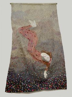 Eve Falling from Grace Free Machine Embroidery, Hand Embroidery, Kinds Of Fabric, Outsider Art, Textile Artists, Needle And Thread, Textures Patterns, Fiber Art, Needlework
