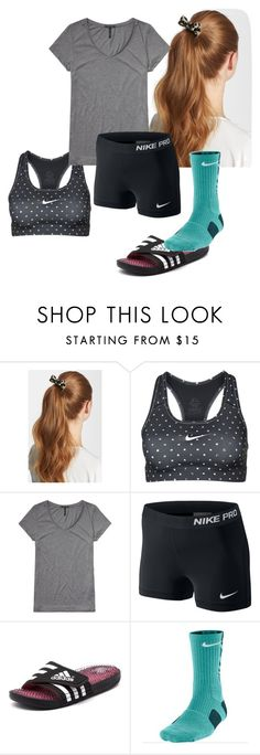 """""""Tricky Trend: Socks with sandals"""" by archerychick5 ❤ liked on Polyvore featuring L. Erickson, NIKE, Scotch & Soda and adidas"""