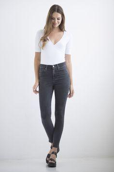 YOGA JEANS JEANS HIGH RISE ANKLE MADDOX/CHARCOAL High Jeans, Charcoal, Yoga, Ankle, Collection, Pants, Fashion, Trouser Pants, Moda