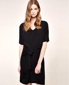 Robe en viscose de crêpe noire, vêtements mode femmes : Comptoir des Cotonniers