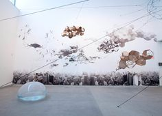 Installation view of <i>Tomás Saraceno: Cloud‐Specific</i> at the Mildred Lane Kemper Art Museum