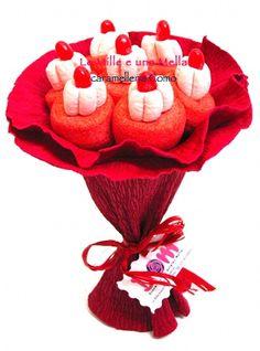 bouquet di caramelle realizzato con marshmallow e jelly belly