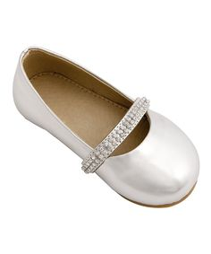 Look what I found on #zulily! Mini Treasure Kids Silver Metallic Lauren Flat by Mini Treasure Kids #zulilyfinds