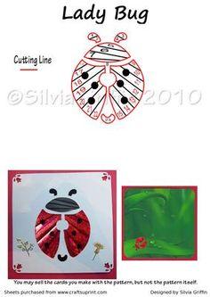 Ladybug : Iris Folding
