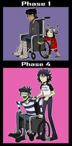 Pickle father and Noodle - Gorillaz by Ashesfordayz.deviantart.com on @DeviantArt