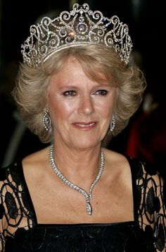 Delhi Durbar Tiara Camilla, Duchess of Cornwall, wears a royal tiara for the first time in October 2005. This was just the third time the Delhi Durbar Tiara had been worn in public. The tiara was made in 1911 for Queen Mary, the Queen's grandmother. The brilliant-cut diamonds are mounted in gold and set in platinum