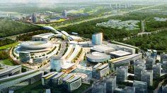 China Southern Airport City, Guangzhou Masterplan Design, China Southern Airport City Guangzhou - e-architect