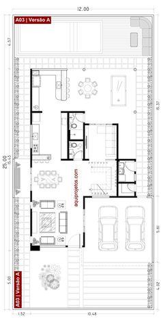 House Floor Design, 2 Storey House Design, Bungalow Floor Plans, House Floor Plans, Architecture Plan, Residential Architecture, Architectural Floor Plans, Courtyard House Plans, House Construction Plan