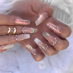 Gorgeous bedazzled stiletto nails different nail designs ног Glam Nails, Dope Nails, Fancy Nails, Stiletto Nails, Coffin Nails, 3d Nails, Ongles Bling Bling, Rhinestone Nails, Bling Nails