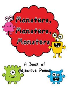 Monster Adjectives Class Book Cover FREEBIE