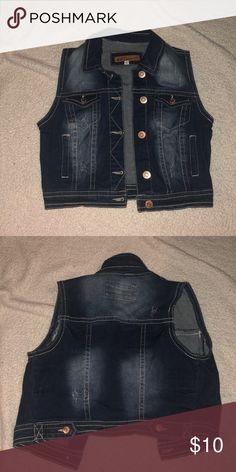 4181f52f5 Sleeveless denim jacket Never been worn sleeveless denim jacket. Runs small  so fits like a cropped jacket Wallflower Jackets & Coats Jean Jackets