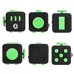 Fidget Cube Relieves Stress And Anxiety for Children and Adults Black/Red (02 )