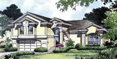 Eplans Mediterranean House Plan - Efficient Plan Big On Luxury - 1995 Square Feet and 4 Bedrooms(s) from Eplans - House Plan Code HWEPL03538