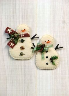 christmas crafts munecos de nieve