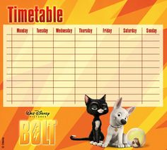 Bolt Timetables 01