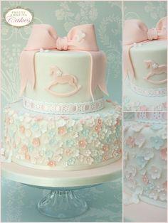Image result for girls christening cakes