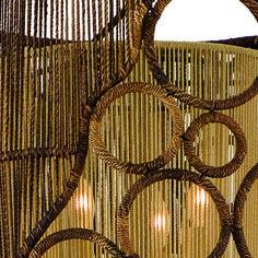 Havana 6 Light Oval Pendant - Large by Corbett Lighting - http://www.lightopiaonline.com/havana-6-light-oval-pendant-large.html